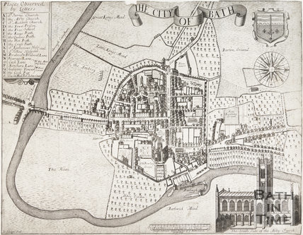 1694 Gilmore's Map of The City of Bath