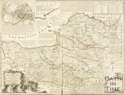An Improved Map of the County of Somerset. Bowen 1735