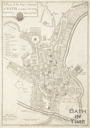 1771 A Plan of the City & Suburbs of Bath