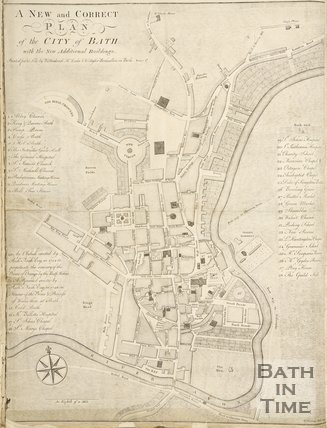 A New and Correct Plan of the City of Bath 1770