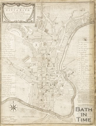 A New and Correct Plan of the City of Bath with the New Additional Buildings to the present time 1786