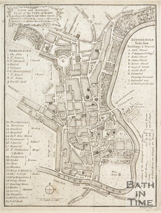 Copy of A New and Accurate Plan of the City of Bath c.1780