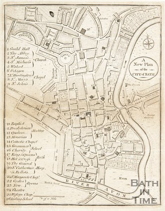 A New and Plan of the City of Bath 1796