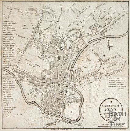 A New & Correct Plan of the City of Bath 1806