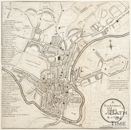A New & Correct Plan of the City of Bath 1808