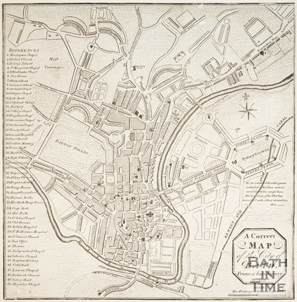 A New and Correct Plan of the City of Bath from a Late Survey 1810