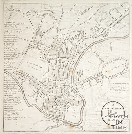 A New and Correct Plan of the City of Bath 1811