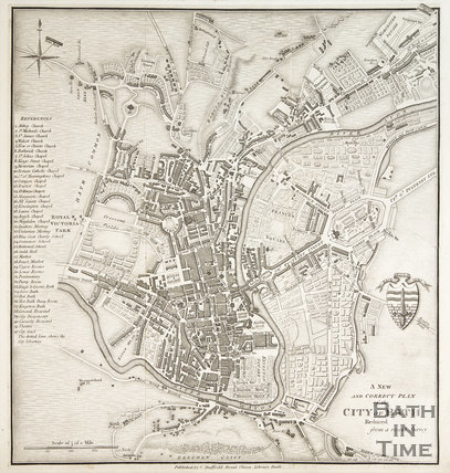 A new and correct plan of the city of Bath reduced from a recent survey 1833