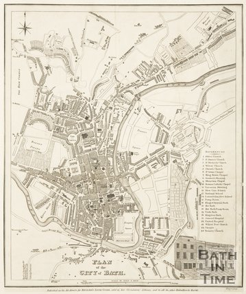 Plan of the City of Bath 1830