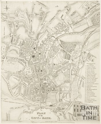 Plan of the City of Bath 1843