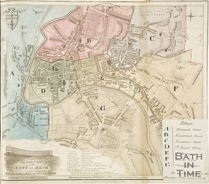 A New and Correct Plan of the City of Bath from a recent survey by B. Donne 1835