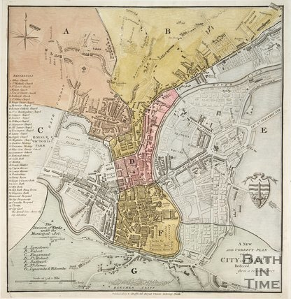 A New and Correct Plan of the City of Bath Reduced from a Recent Survey c.1829