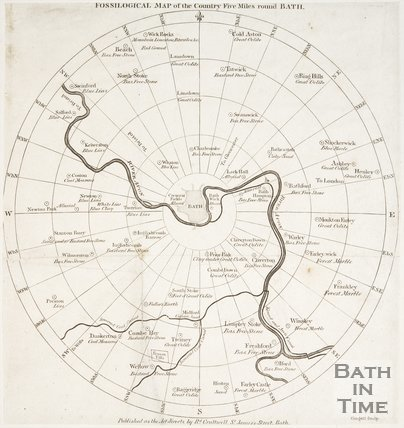Fossological Map of the Country Five Miles Round Bath 1811
