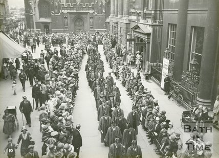 Procession of Aldermen, Abbey Church Yard, Bath, June 20 1929