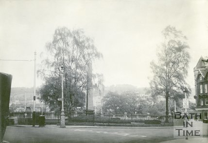 Orange Grove, Bath from west, showing obelisk, c.1932