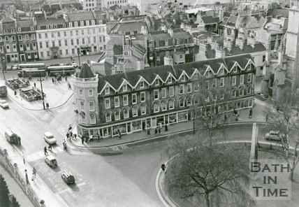 Looking down on Orange Grove, Terrace Walk and North Parade, 1967