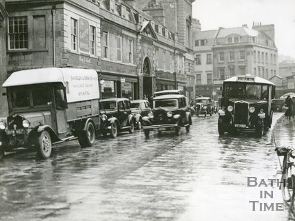 Rear entrance to Bath Markets, Grand Parade, Bath, c.1930s
