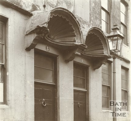 The doorways of 3 & 4, Abbeygate Street, Bath c.1903
