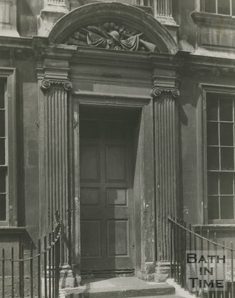 Doorway to General Wolfes House, Trim Street, Bath, c.1920s?
