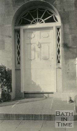Architectural details of a doorway at Sydney Place, Bath, c.1915