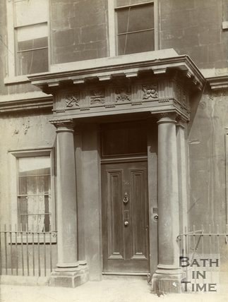 Doorway 36, Brock Street, Bath, c.1900