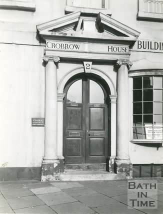 Doorway, 2 Terrace Walk, Bath, c.1920s?