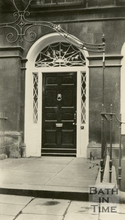 Architectural details of doorway at no. 94, Sydney Place, Bath, c.1920s