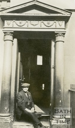 Architectural details of doorway No.36 St. James Parade, Bath, c.1915