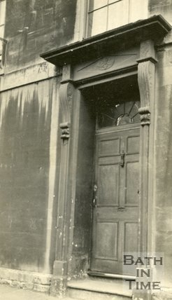 Architectural details of doorway No.1 Nile Street, Bath, c.1915
