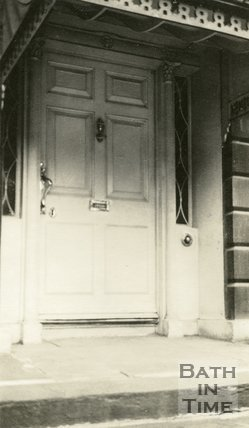 Architectural details of doorway No.10 Cavendish Place, Bath, c.1915