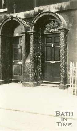 Architectural details of doorway Nos 13 & 14 New King Street, Bath c.1915