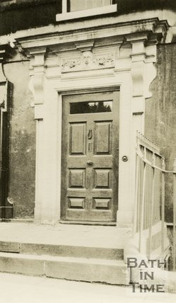 Architectural details of doorway Queen Square, Bath c.1915