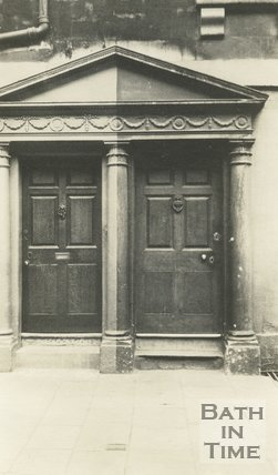 Architectural details of doorway St. James Parade, Bath c.1915