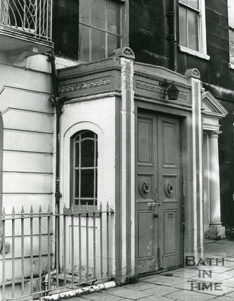 Porch extension in Great Stanhope Street, Bath, 5 November 1974