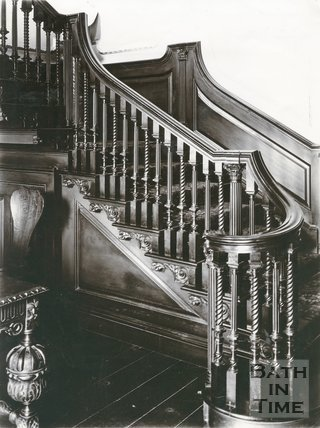 Staircase, 15, Queen Square, Bath, c.1903