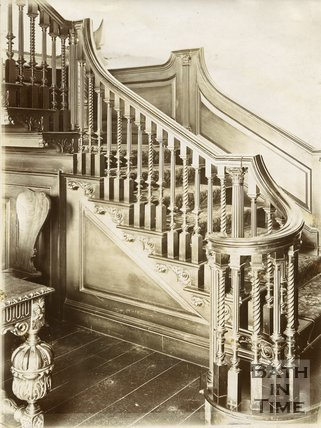 Staircase, 15, Queen Square, Bath c.1903