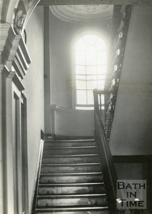 Architectural details of staircase, 11 North Parade, Bath, c.1920s