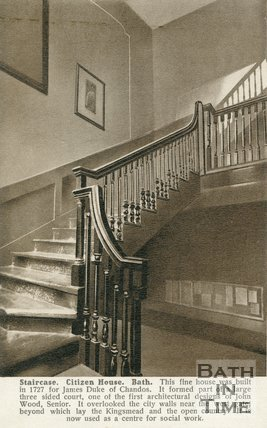 Staircase Citizen House, Bath, c.1910s