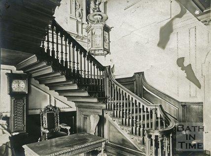 Staircase, 15, Queen Square, Bath c.1903