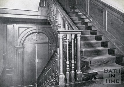 Staircase, Queen Square, Bath, c.1930s?
