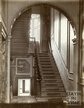 Hall and staircase, Royal Crescent, Bath c.1903