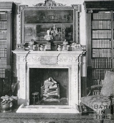 Fireplace at no.9, The Circus, Bath, c.1950s