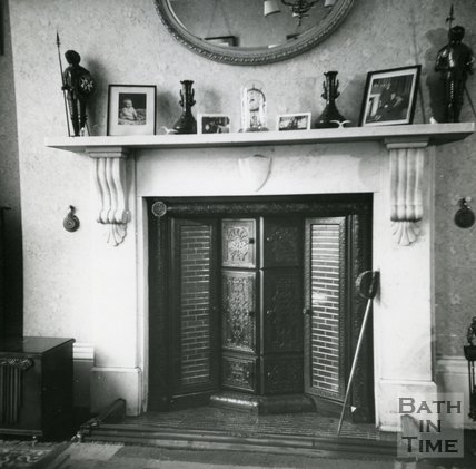 Fireplace, no.7 George Street, Bathwick Hill, August 1965
