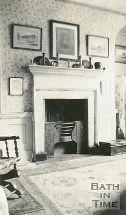 Fireplace of no.1, Queen Street, Bath, c.1920s