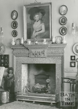 Fireplace, no.4, The Circus, Bath, c.1960s