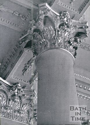 Architectural details . Columns in the Assembly Rooms, Bath, c.1950s?