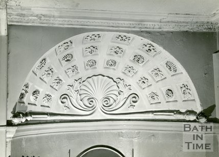 Plasterwork of no.24, Queen Square, Bath, c.1960s?