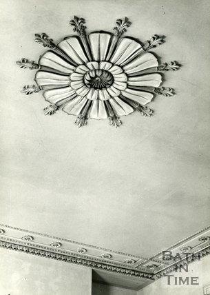 Ceiling plasterwork of no.7 Brock Street, Bath, c.1960s?