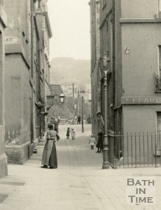 North Parade Passage from Abbey Green, Bath c.1915 - detail