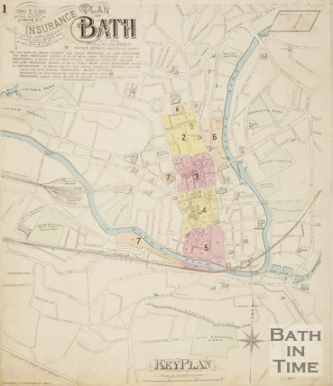 Page 1 Goad Insurance Map of Bath 1902